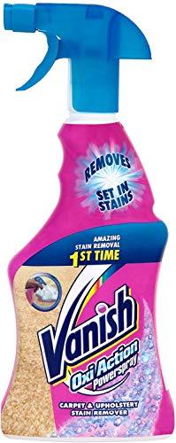 Vanish Haustier-Experte Teppichreiniger - Reinigungsspray zur Teppich- & Polsterpflege - Gegen Schmutz & Geruch nach Urin - Punktuelle Fleckentfernung - 1 x 750 ml