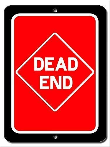 Tomlinsony Blechschild Metal Tin Sign Aluminum Rustic Sign Post Dead End Road Sign 12