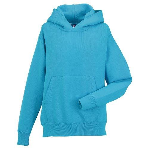 Jerzees Schoolgear Pullover mit Kapuze für Kinder (9-10 Jahre) (Türkis) (Jerzees-baumwolle-pullover)