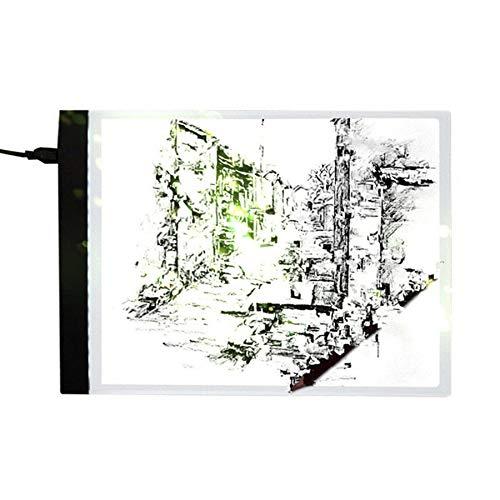 Lovelysunshiny Planche à Dessin de Bande dessinée de Panneau de Pochoir d'art Mince d'artiste de Caisson Lumineux de Dimmable LED