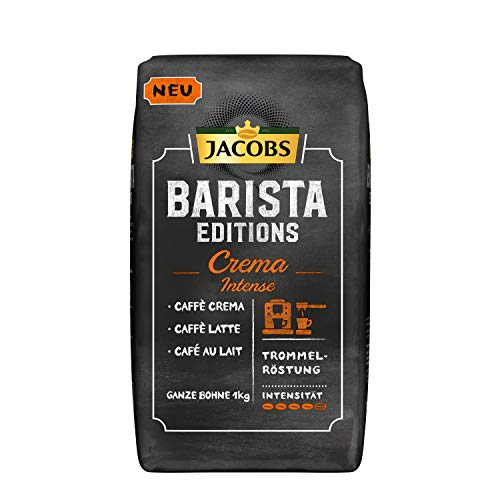 Jacobs Kaffeebohnen Barista Editions Crema Intense, 1 kg Bohnenkaffee