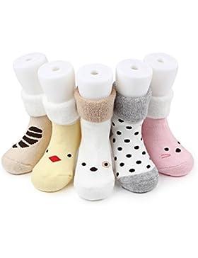 Culater® 5 coppie di calzini di cotone per 1-3Y delle ragazze dei neonati bambino bambini