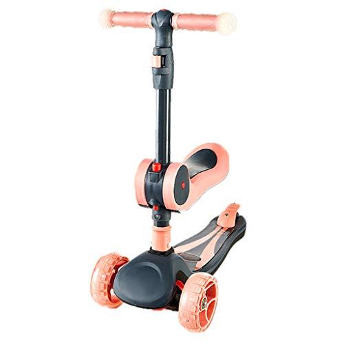 Dreiradscooter Scooter Kinder sitzen Roller für Mädchen Jungen, faltender Tretroller, 1-14rd Kindergeburtstagsgeschenk im Freiensport