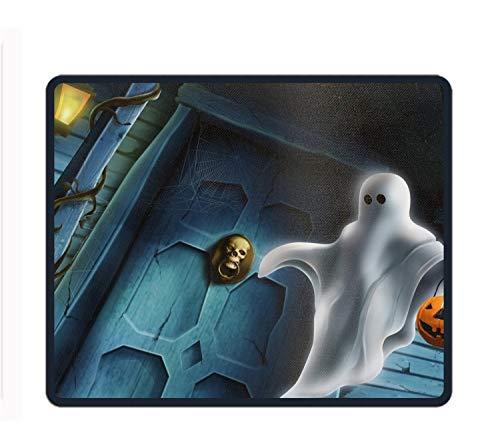 Ghost Kostüm Einfach - Mauspad mit Handgelenkstütze und Rutschfester Tastatur für Computer, Laptop, Mac, Gaming und Büro - langlebig und bequem für einfaches Tippen und Schmerzlinderung, Halloween Ghost, Einheitsgröße