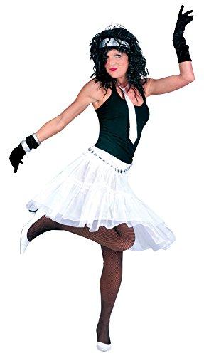 Bristol Novelty AC274 Langer Unterrock Kostüm, Weiß, UK Size 10-14
