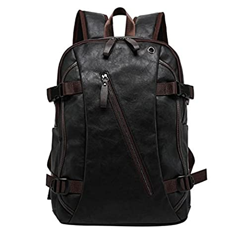 Backpack, iTECHOR Fashion Casual Men PU Leather Schoolbag Travel Bag