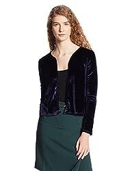 VERO MODA Womens Cardigan (1842338003_Navy Blazer_Large)