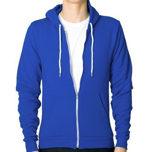 Star and Stripes Contrast ROYAL BLUE with White full zip Hoodie Medium