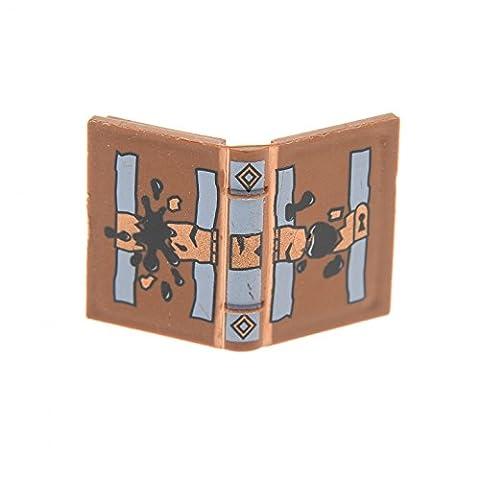 1 x Lego System Buch braun 2 x 3 bedruckt Tom Riddle's Tagebuch Tinten Fleck Figur Zubehör Harry Potter Book für Set 4730 4731