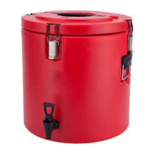 JSHFD Catering-Urne-Heißwasserkessel-Tee-Urne-Thermosflasche mit Hahn for das HausbrauenKommerzieller oder Büro-GebrauchEdelstahl-Kochen u. Speisen (Color : Red, Size : 30L) -