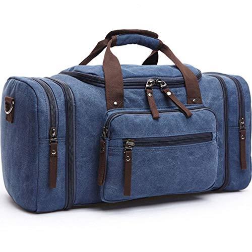 Lv-xing Borsa da viaggio unisex, borsa da viaggio Borsa da viaggio fine settimana/da uomo per uomo e donna (capacità di espansione: 28 * 25 * 56 cm) (colore : Blu)