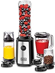 Black+Decker 300W 16 Piece 4-in-1 Personal Compact Sports Blender/Smoothie Maker with Citrus Juicer & Grin