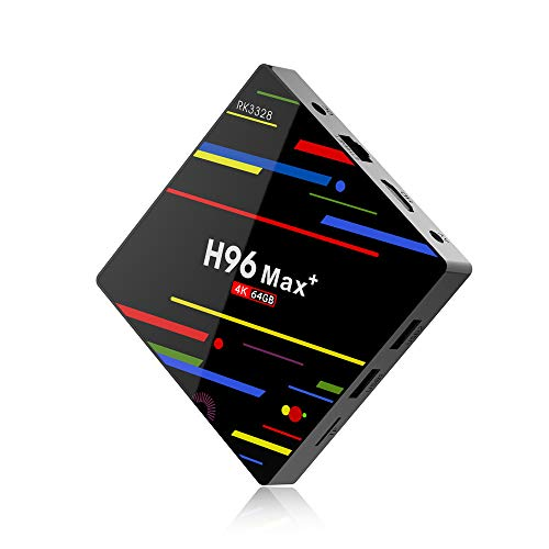 Moligh doll Eu Stecker H96 Max Plus Tv Box Android 8.1 4 Gb 64 Gb Smart Set Top Box Rk3328 Quad Core 5G WiFi 4K H.265 Medien Spieler H96 Pro H2 Pk X96 (64 Gb)