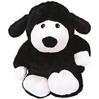Warmies - Oveja, peluche térmico, color negro (T-Tex 73)