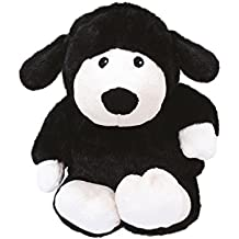 Warmies - Oveja, peluche térmico, color negro (T-Tex 73)