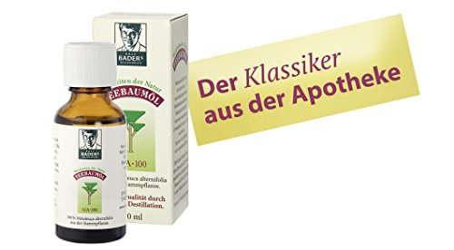BADERs Apotheken Teebaumöl. Der Klassiker aus der Apotheke. 100% melaleuca alternifolia. Doppelt...
