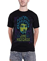 Jimi Hendrix T Shirt Are you Experienced 1967 nouveau officiel Homme Noir