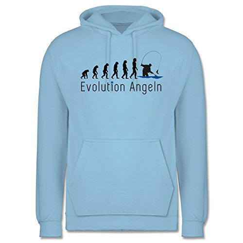 Shirtracer Evolution - Angeln Evolution - XS - Hellblau - JH001 - Herren Hoodie