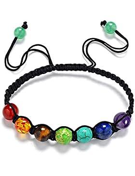 Yogogo 7 Chakra heilende Balance bördelt Yoga Armband für Damen Frauen Mädchen