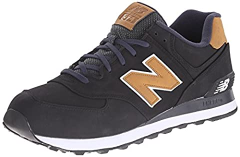 New Balance Mens Classics Traditionnels Black Synthetic Trainers 44 EU (Trainer Herrenschuhe)