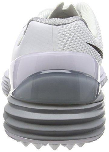 NIKE DART 7 LEA (GS/PS) SCARPE BAMBINO Bianco (White/Black/Wolf Grey)