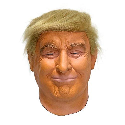 d Trump Maske Latex. Die Präsidenten Maske als Perfekte Ergänzung zu Ihrem Kostüm ()
