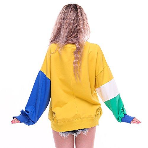 Yabliss Damen Sweatshirt mehrfarbig Mutilcolored One size Letter-yellow