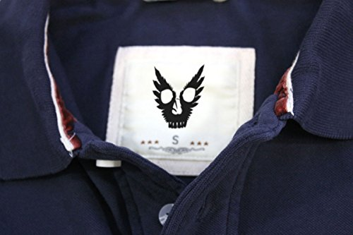 Aliens: Armat Logo Herren Vintage Pique Polo Blau - Vintage Navy