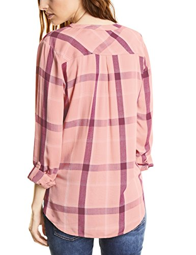 Street One Key Multi-Check W/Chestpockets, Blouse Femme Rosa (Studio Rose 30978)