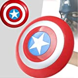 FAVELA 32Cm Captain America Basic Printed Shield (Red and Blue) Pack of 1