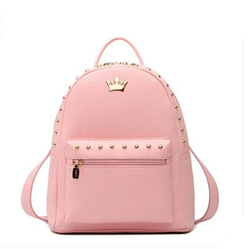 MOGOR, Borsa a zainetto donna rosso Pink M medium Pink L