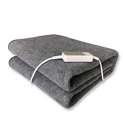 GONGFF Ultra Soft Premium Heizdecke - Maschinenwaschbar + Überhitzungsschutz - Mehr Farben Erhältlich - Dunkelgrau,Gray,150 * 75Cm