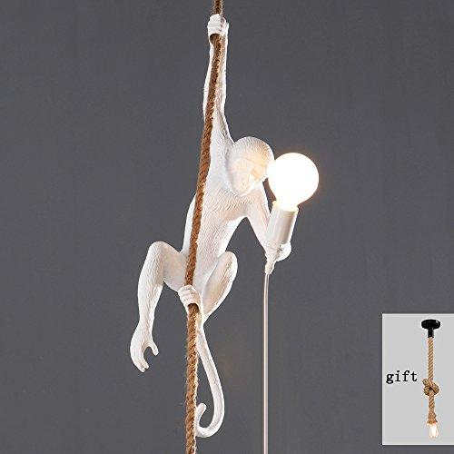 Led Kronleuchter Seeksung Kunst Restaurant Persönlichkeit Beleuchtung, Moderne Schlafzimmer Kaffee Affe Lampe E27 Lampe, Weiß