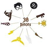 30 Pack für Harry Potter inspiriert Cupcake Toppers für Harry Potter Wizard Geburtstagsparty Dekorationen liefert Hogwarts Party Decor mit 10 Verschiedenen Elementen von Harry Potter Theme
