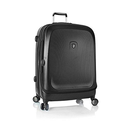 ... 50% SALE ... PREMIUM DESIGNER Hartschalen Koffer - Heys Crown Smart Gateway Schwarz - Trolley mit 4 Rollen Gross Schwarz