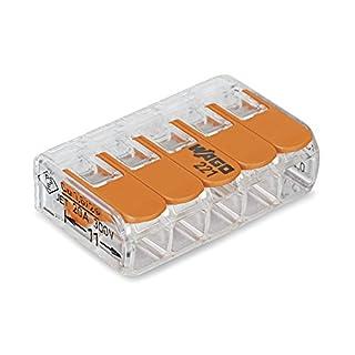 Wago 221-415 Verbindungsklemme 5-Leiter compact mit Betätigungshebel