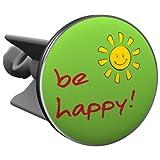 Plopp Waschbeckenstöpsel be happy grün, Stöpsel, Excenter Stopfen, für Waschbecken, Waschtisch, Abfluss