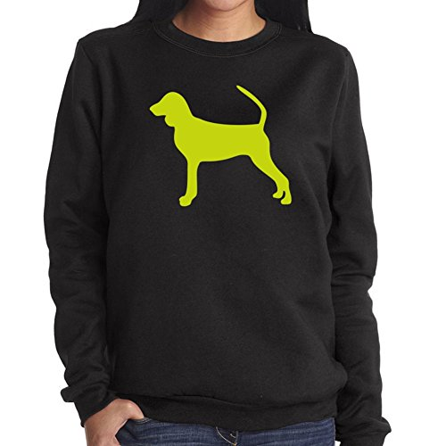 Felpa da Donna Black and Tan Coonhound silhouette - Coonhound Silhouette