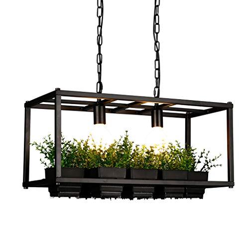 CL@ American retro industriel fer à manger lustre café créatif bar table magasin de vêtements balcon personnalisé lampes de la plante Lustre