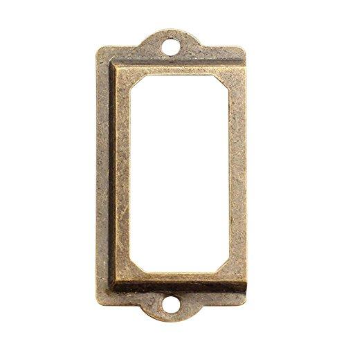 seawang 12Messing antik Metall Label Pull Rahmen Griff Datei Name Card Halter