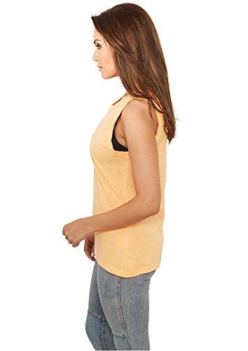 Débardeur Top Long pour Femme Tshirts sans maches Urban Classics orange fluo