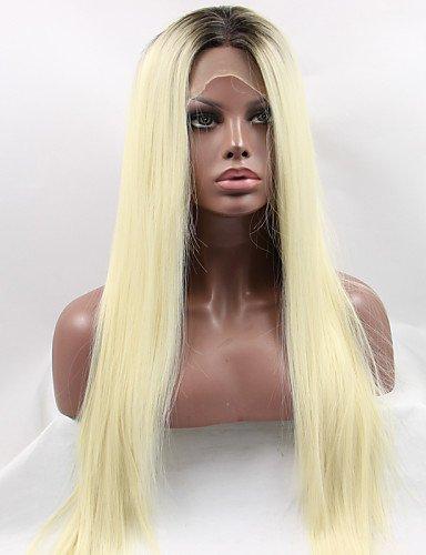 Fashion wigstyle New Fashion Lange Gerade Haar Perücke Best Hochwertigen hitzebeständigen Fasern (Hand auf Spitze Perücke Emma Perücke auf Verkauf billige