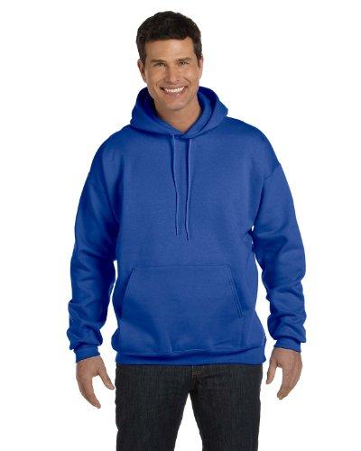 10 Oz Kapuzen-sweatshirt (Baumwolle / Poly 10 oz ultimative Baumwolle Kapuzen-Sweatshirt in Deep Royal - Klein)