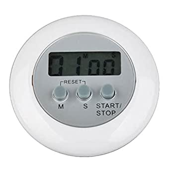 BestDealUK White Mini Digital LCD Kitchen Cooking Countdown Timer Countdown Clock Alarm