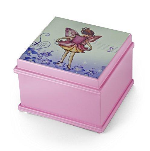 Matt Pink Enchanted Fairy 18Note Ballerina Musical Jewelry Box–Sie wählen das Lied, 146. Harbor Lights (J. Kennedy) - Swiss (+$35), 157. Heaven is in Blue Hawaii (Paul Koy) - SWISS (Blue Box Light Music)