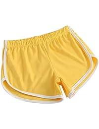 Hosaire Femme Short de Sport Casual Yoga Fitness Elastique Short Été Unique  Taille Shorts décontractés Mode 77d06590439