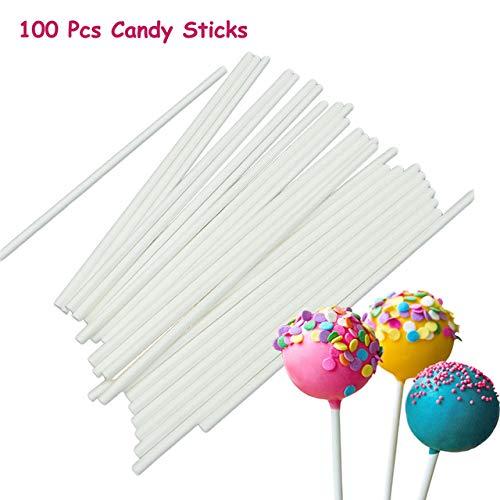 100 Stücke Pop Sucker Sticks Kuchen Papier Lolly Lollipop Candy Schokolade Modellierungsform Form 2016