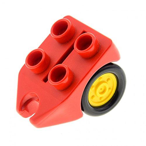 Bausteine gebraucht 1 x Lego Duplo Rad Rot mit 4 Noppen Fahrwerk Passagier Flugzeug Hubschrauber Airplane dupwheel02c01