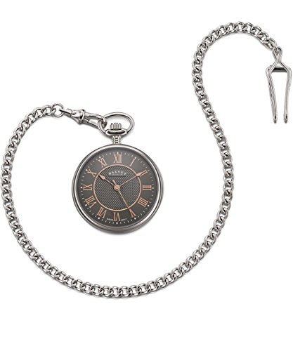 Dalvey Compact Open Face Pocket Watch in Blue Mother of Pearl