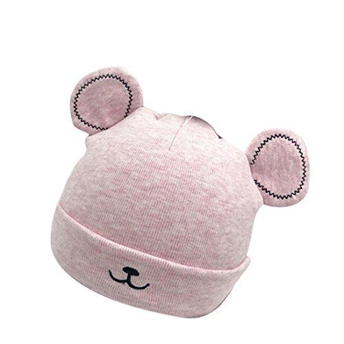 LuckyGirls Baby Mütze Kleinkind Mädchen Jungen Warmer Hut Nette Ohren PlüSch Kappe (pink)